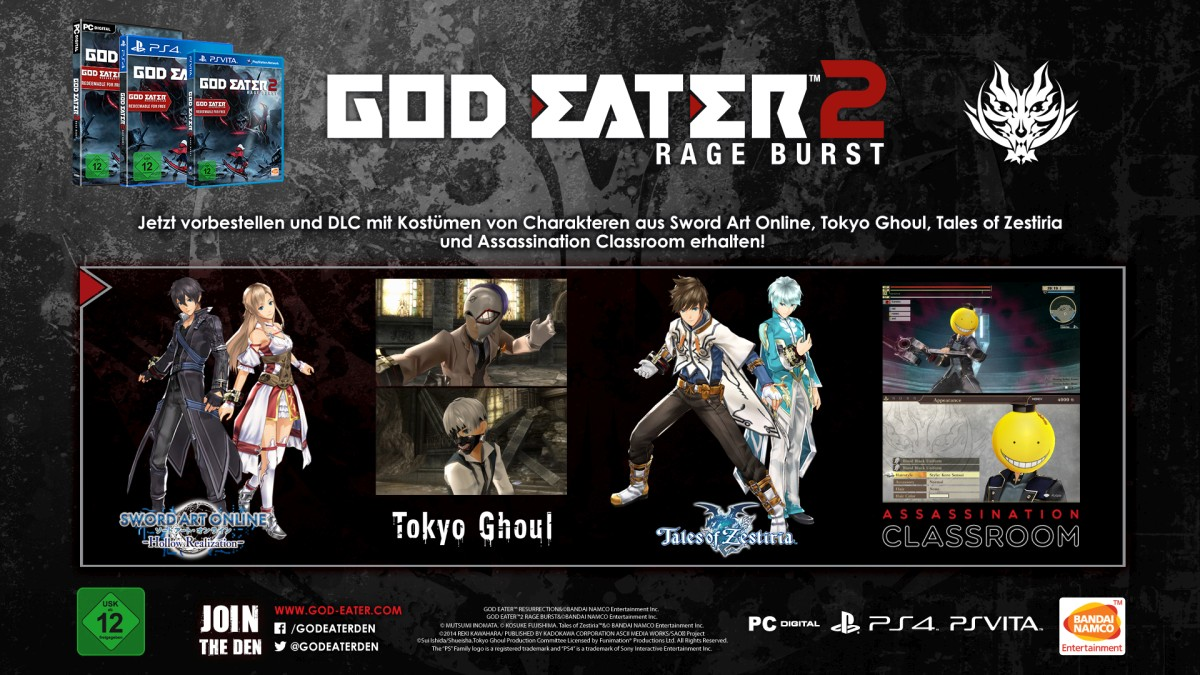 god eater 2 Assassination Classroom dlc
