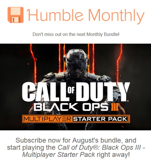 humble monthly cod black ops 3