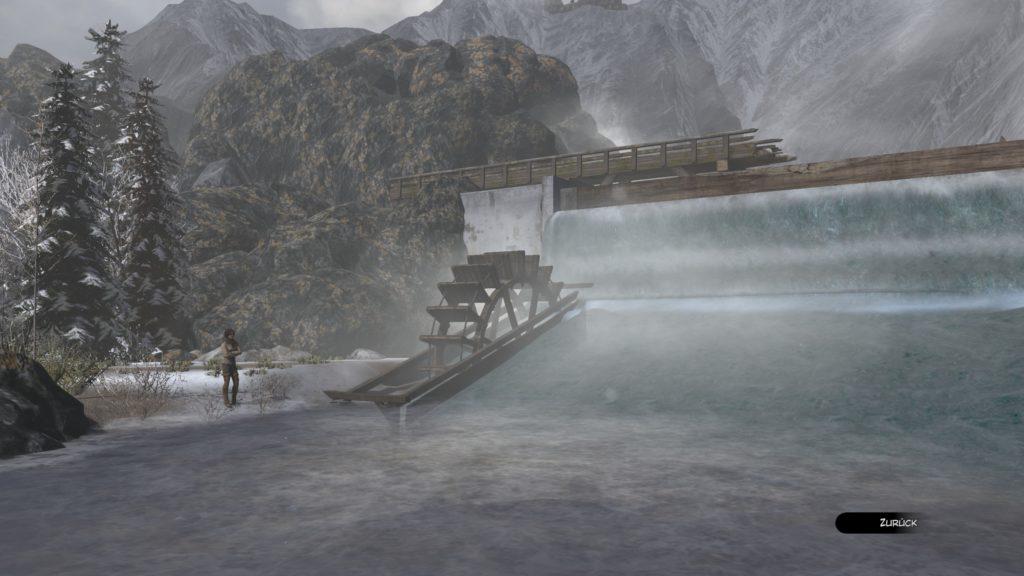 Eines der besseren Rätsel. Hier filtern wir das Wasser bei einem Staudamm.